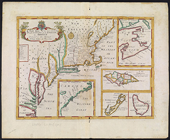 1700 Wells. A New Map of the Most Considerable Plantations of the English In America.