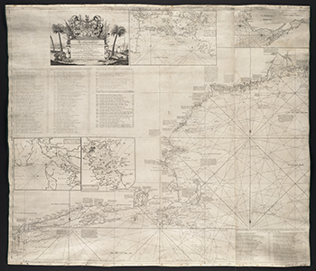 1735 Southack. The Sea Coast from New York to Cape Breton.