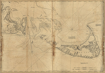 1776 Des Barres. Eastern Half of Martha's Vineyard and Nantucket.