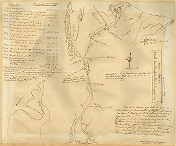 1776 Machin. Map of a Canal from Barnstable Bay to Buzzard's Bay.