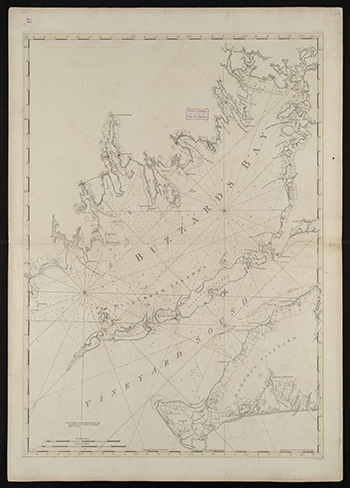 1781 Des Barres. Buzzards Bay and Vineyard Sound (Western Half of Martha's Vineyard).