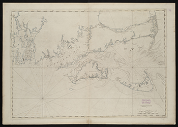 1781 Des Barres. Coast of New England from Chatham Harbor to Narraganset Bay (Martha's Vineyard-Cape Cod).