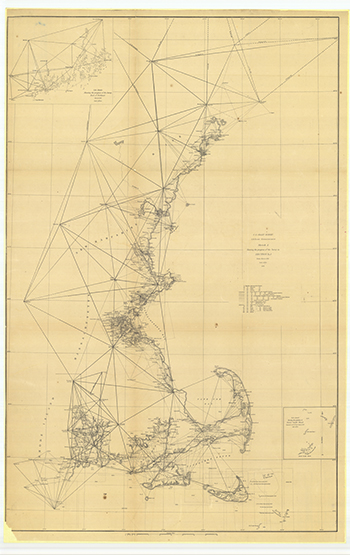 1851 US Coastal Survey. Sketch of the progress of the Survey (1844-1851).