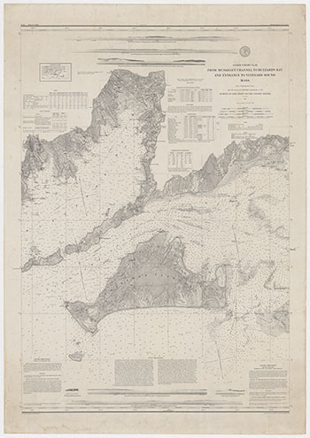 1860 US Coastal Survey. From Muskeget Channel to Buzzard's Bay and Entrance to Vineyard Sound Mass.
