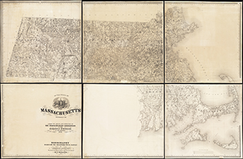 1876 Walling. The State of Massachusetts.