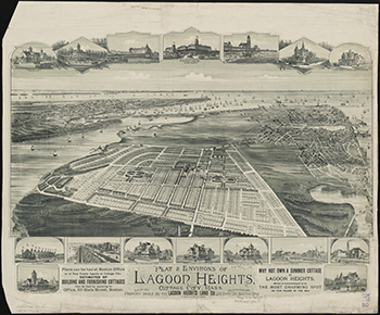 1880 Plat & Environs of Lagoon Heights.