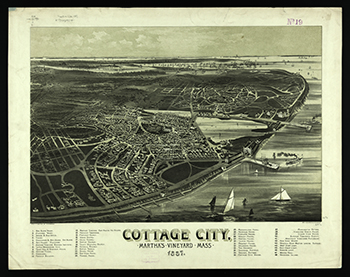 1887 Cottage City Birdseye View.