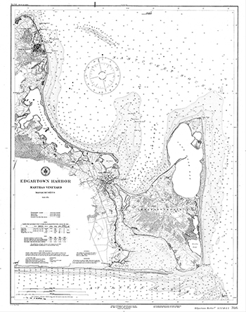1887 U.S. Coast and Geodetic Survey. Edgartown Harbor.