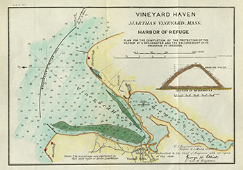 1887 U.S. Engineers Office. Vineyard Haven Harbor of Refuge.