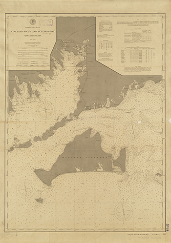1895 US Coast and Geodetic Survey. Vineyard Sound and Buzzard's Bay.