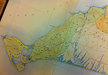 1917 Wigglesworth. Map of Clay Pits on the western moraine of Martha's Vineyard.
