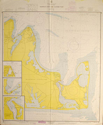1961 U.S. Coast & Geodetic Survey. Eastern Martha's Vineyard.