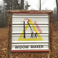 Widow Maker Sign