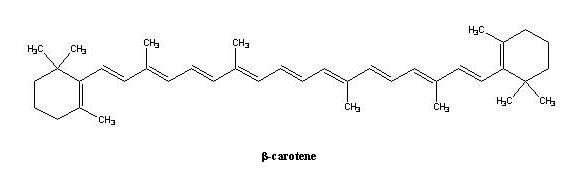 B-Carotin Formel