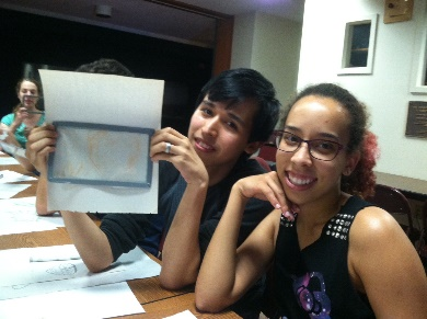 [Nikki and her project partner Luis]