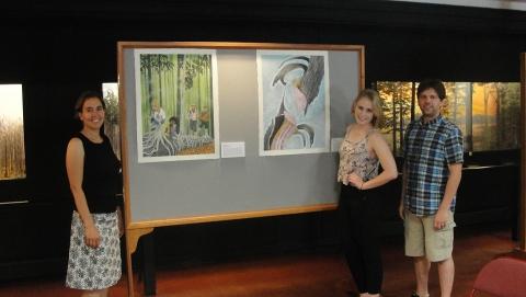 Summer Student displays her artwork