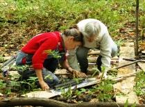 Bullard Fellow And Research Assistant Investigate A Sediment Core