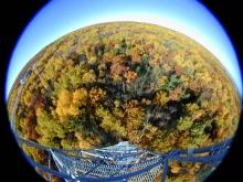Tower fish-eye view
