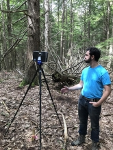 Atticus Stovall with Faro Scanner