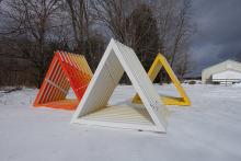 Three triangular structures.