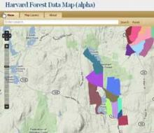 Harvard Forest Data Map
