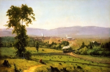 "Painting by George Inness, ""The Lackawanna Valley"""