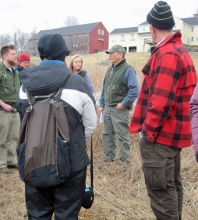 Photo of a woodland landowner meeting by Dave Kittredge