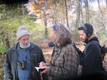 Lynda Mapes at Harvard Forest