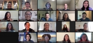 screenshot of Zoom meeting with 2021 Summer Research Program participants