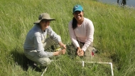 Jerilyn Calaor and Alina Smith in the field