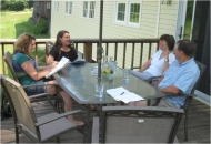 Students interview landowners, 2012