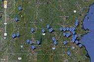 Interactive schoolyard map screenshot