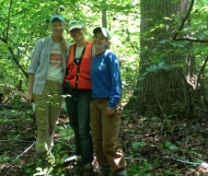 Rebecca Walker, Jennifer McGarvey, and Stevie Gildehaus at Belt Woods