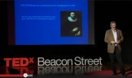Jim Levitt presenting in a lecture on TEDx series