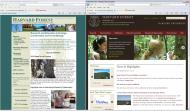 Screenshots from the new Harvard Forest website