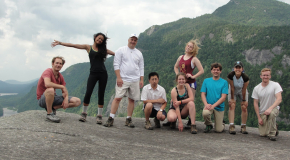 Summer Students pose with mentors in the Adirondacks
