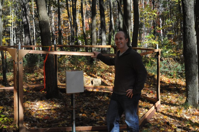 [Warm Ants uber-PI Rob Dunn visiting Harvard Forest on October 17th.]