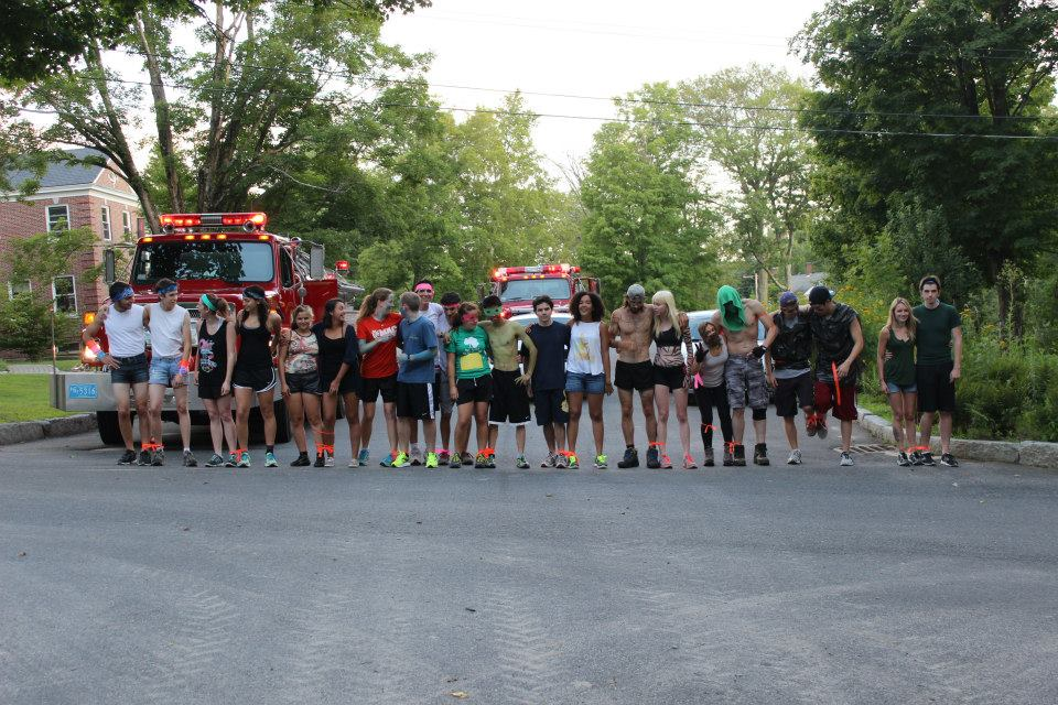 [Research Partner Olympics of 2013. Great memories. To alleviate any concerns you may have, the fire trucks were at the forest for an unrelated false fire alarm. They did make for a cool photo op, though.]