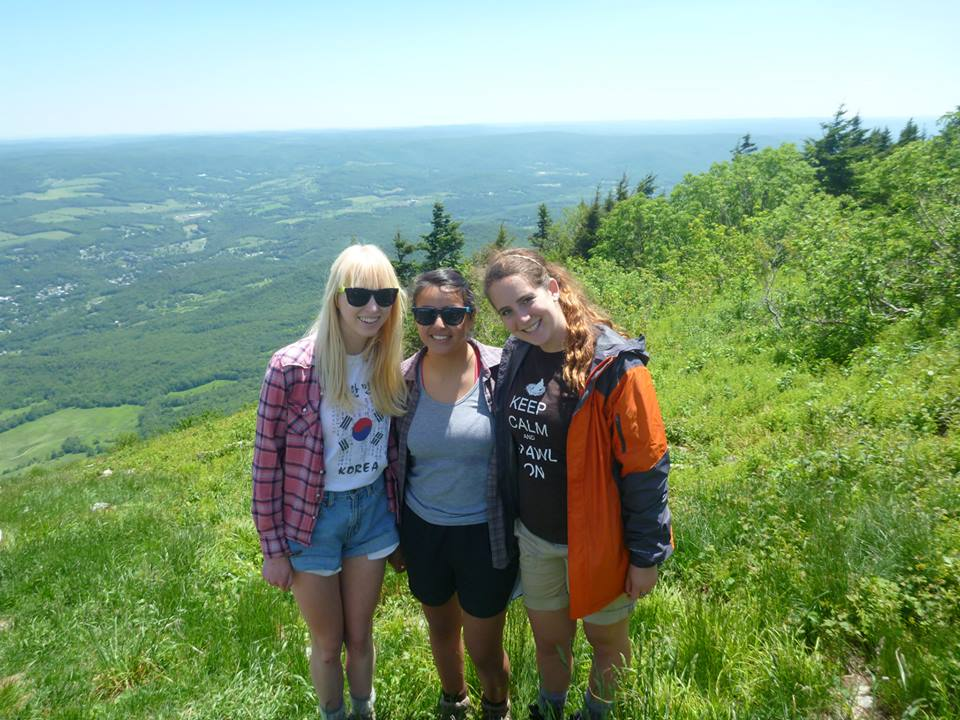 [Hiking Mount Greylock with the roommates.]