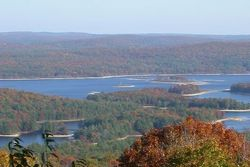 [A view of the Harvard Forest area from the west, in New Salem and overlooking the Quabbin Reservoir.]