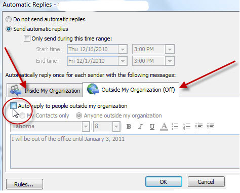 Out of Office Outlook
