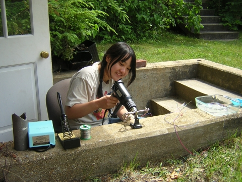Summer Research Program Student Investigate Water Transport In Leaves