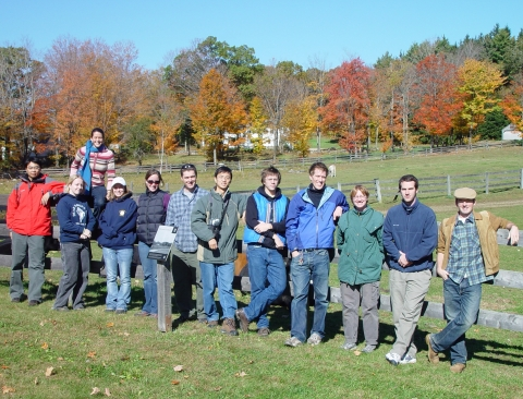 Harvard Graduate Students Tour Harvard Forest