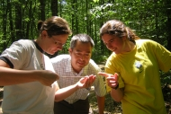 Harvard Forest Summer Research Program student and mentors