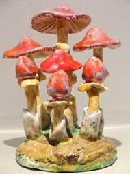 Amanita caesarea, edible, six red caps