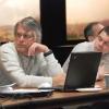 Chuck Hopkinson and Scott Ollinger at Future Scenarios Workshop