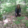 Ecologist Shows Off Garlic Mustard Experimental Plot